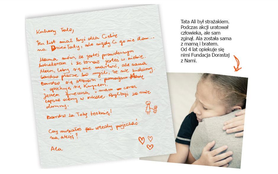 Kochany tato, Ten list miał byc dla Ciebie na Dzień Taty, ale nigdy Ci go nie dam...
