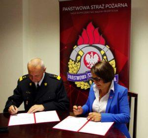 Podpisanie porozumienia z Komendantem Głównym Państwowej Straży Pożarnej